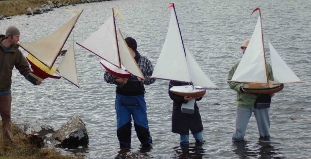 The boats are launched - the launch order dictated by the drawing of lots.