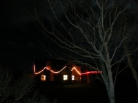 Peggy McFaul's house lights at Cleggan.