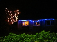 George & Liz Wither's lights in Church Bay.