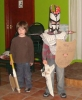 Fearsome Rathlin Warriors (Zack and Pablo) win the junior fancy dress prize. Photo: PMcC