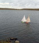 Douglas' and Loughie's boats during testing on Ushet Lough. Photo: Douglas Cecil