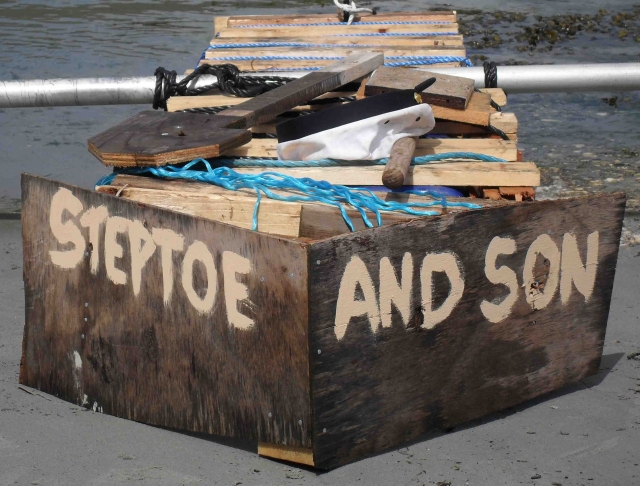 Brian & Chris's 'Steptoe & Son' raft. Photo: DQM