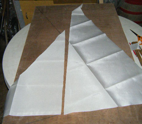 Stephen's cut sailcloths. Photo: SR