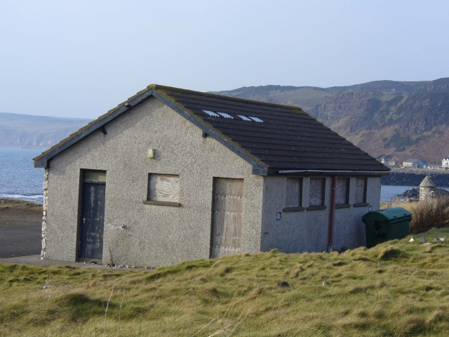 The old toilet block before work began on the Resource Centre.