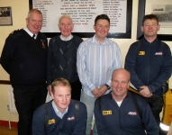 Gordon, Loughie, Douglas and the crew of the Red Bay RNLI Lifeboat.