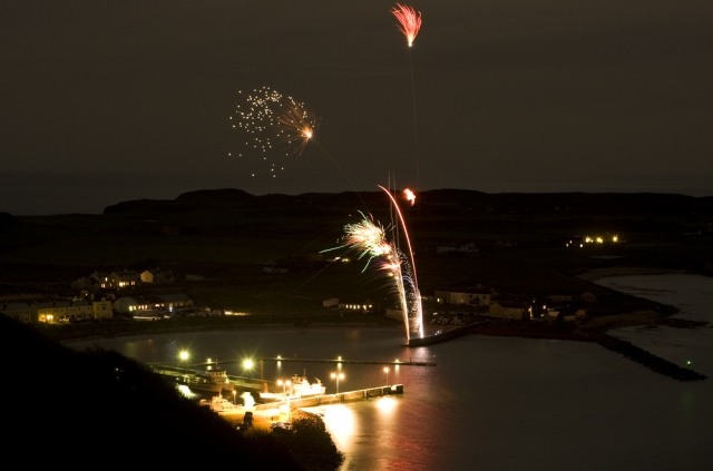 Halloween Fireworks. Photograph Tom McDonnell.